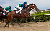 "Race for the prize of the ""Derby"" in Nalchik,Caucasus, Russia."