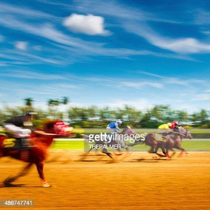 Horse Racing Motion Blur