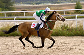 The race for the prize of the Osenni in Pyatigorsk,Northern Caucasus, Russia.
