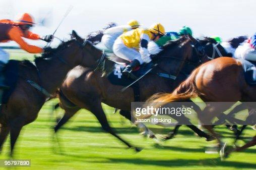 Horse racing : Stock Photo