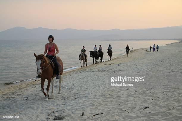 Horse riding lake Malawi Africa