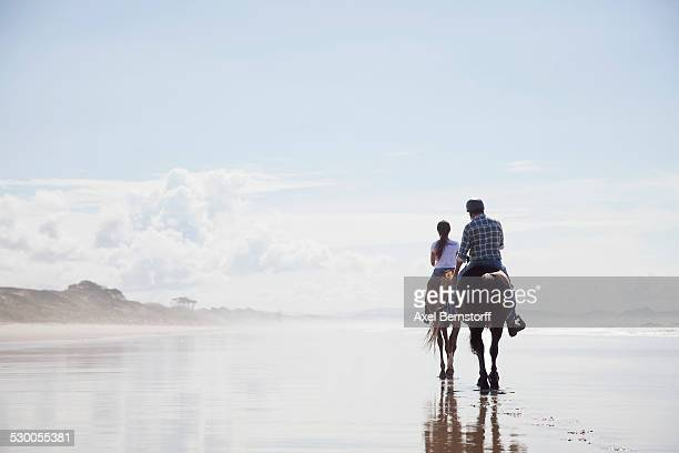 Horse riding, Pakiri Beach, Auckland, New Zealand