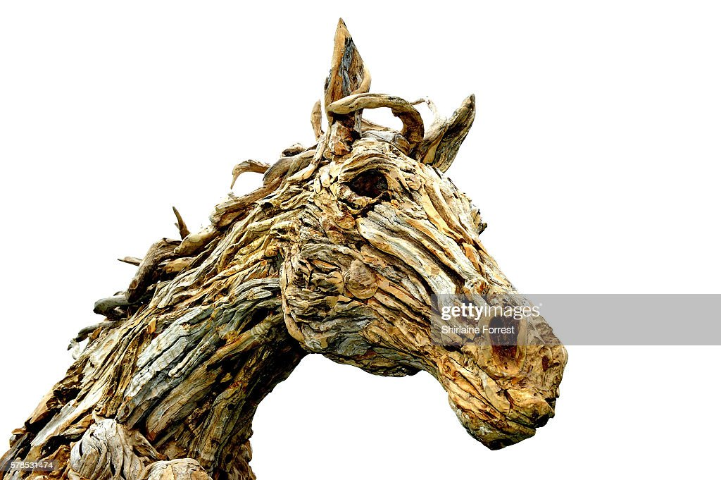 Horse sculptures by James DoranWebb during the RHS Flower Show at Tatton Park on July 21 2016 in Knutsford England