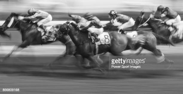 Horse Sure Peace ridden by Karis Teetan competes during the race 5 of HKJC Horse Racing 201718 at the Sha Tin Racecourse on 16 September 2017 in Hong...