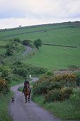 Horseback Rider in Bodmin Moor, England