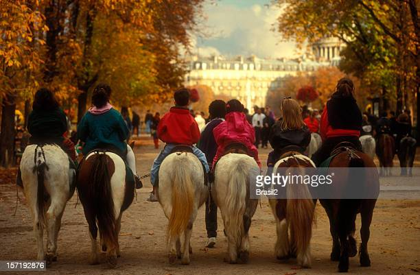 Horseback riding in Paris