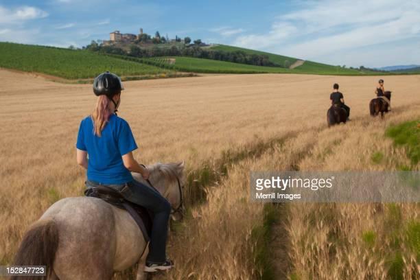 Horseback riding in Tuscany, Italy