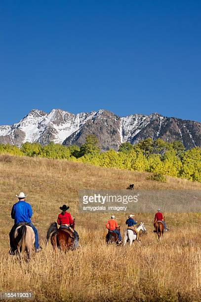 horseback riding mountain landscape