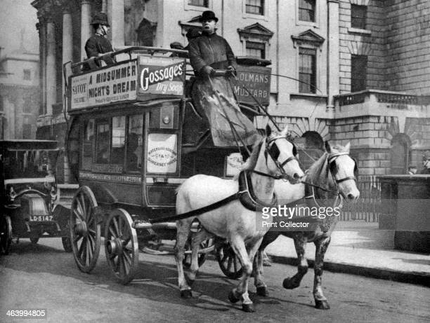 A horsedrawn bus London 19261927 From Wonderful London volume II edited by Arthur St John Adcock published by Amalgamated Press