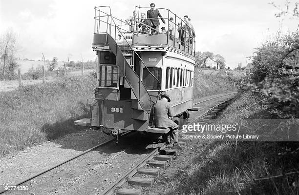 Horsedrawn tram by Patrick RansomeWallis 1950 Trams were first used in Britain in the 1850s in Liverpool Early trams were pulled by horses although...