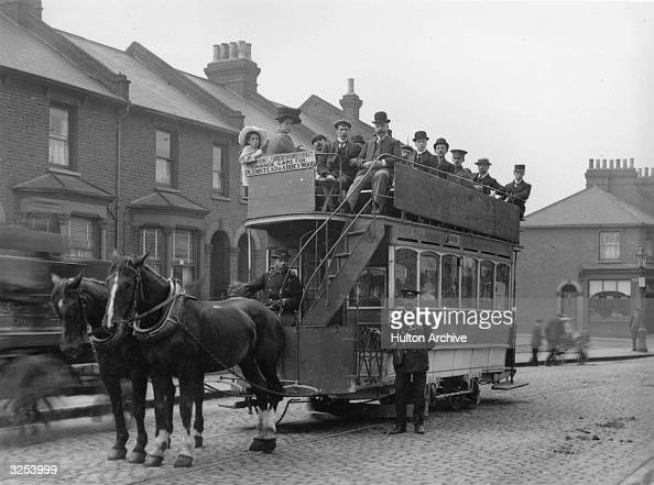 A horsedrawn tram in south London