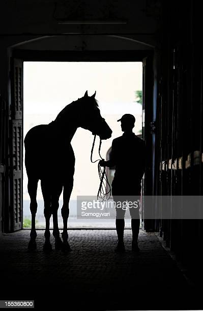 Horseman with his horse