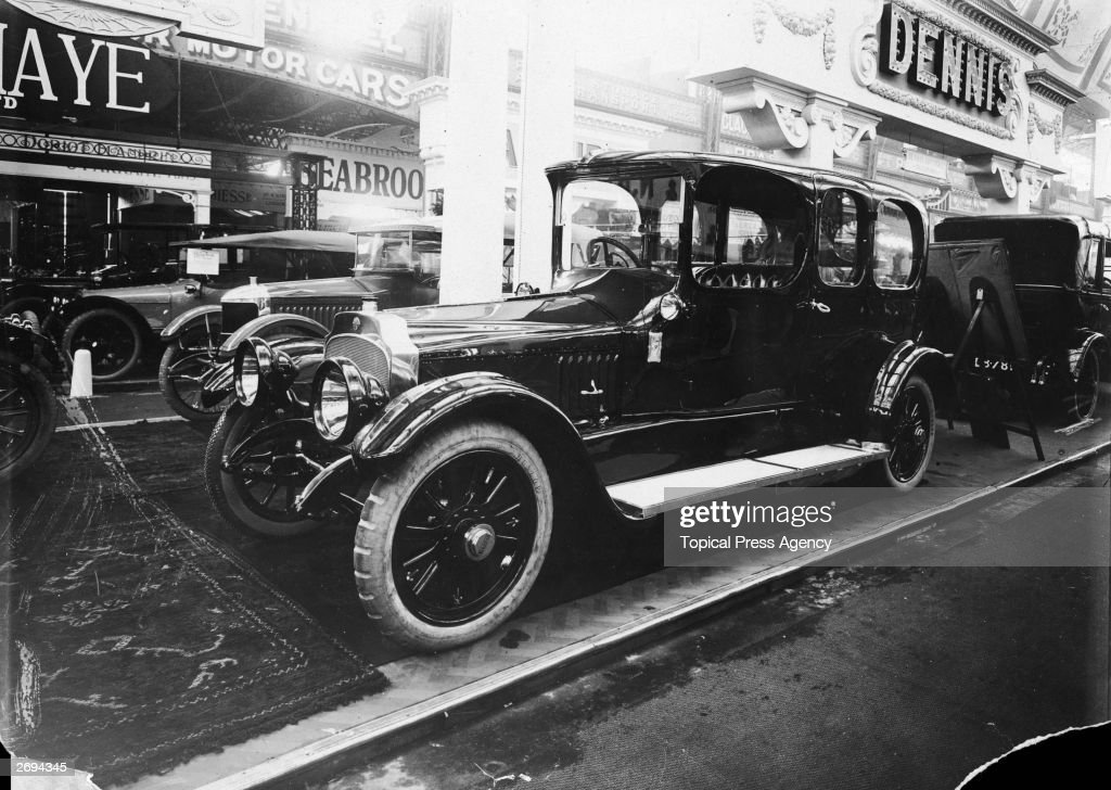 A 35 horsepower Vauxhall Limousine at the Motor Show at Olympia London
