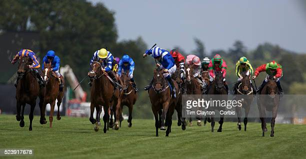 'Horses head from the race course after a race at the race meeting at Royal Ascot Race Course Royal Ascot is one of the most famous race meetings in...