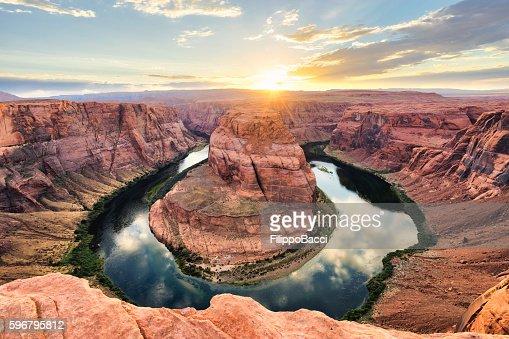 Horseshoe Bend At Sunset - Colorado River, Arizona
