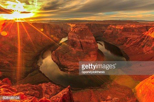 Horseshoe Bend au coucher du soleil