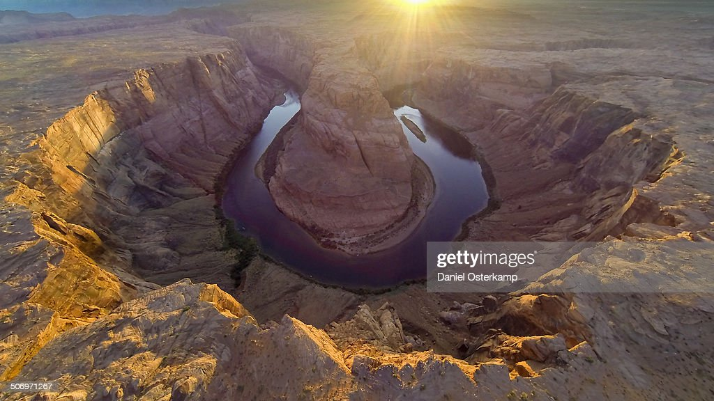 Horseshoe Bend, Colorado River Aerial