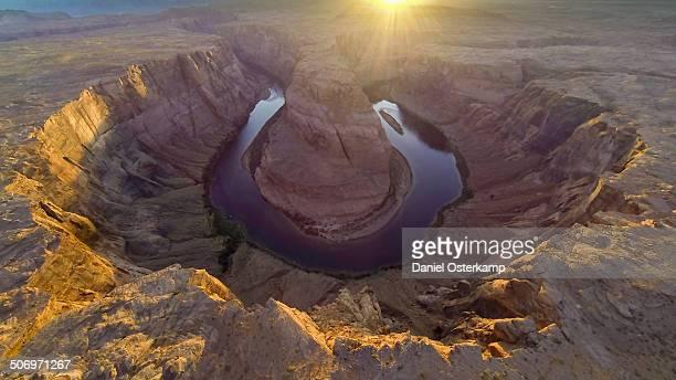 Horseshoe Bend, Colorado River Aerial