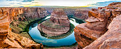 Horseshoe Bend in the USA panorama