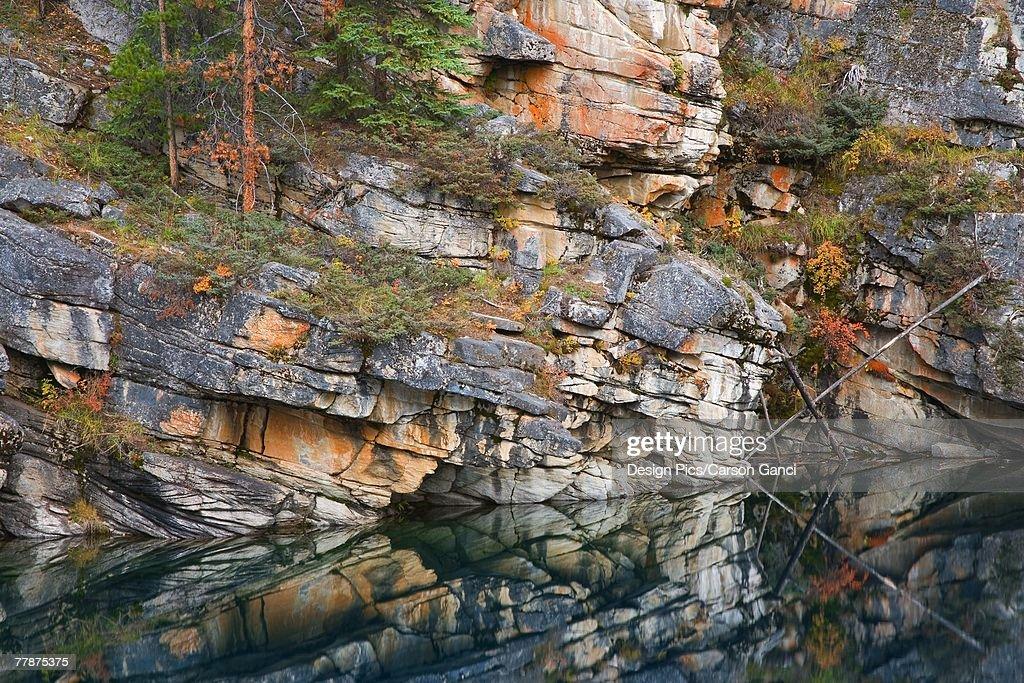 Horseshoe lake Jasper National Park : Stock Photo