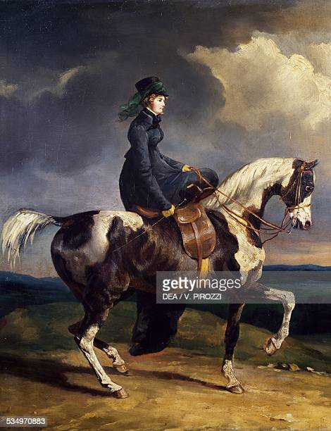 Horsewoman by Theodore Gericault oil on canvas 44x35 cm France 19th century