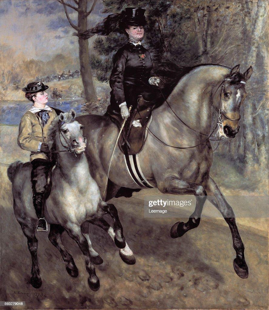 Horsewoman in the Bois de Boulogne by Pierre Auguste Renoir 1873 261x226cm Hambourg Kunsthalle
