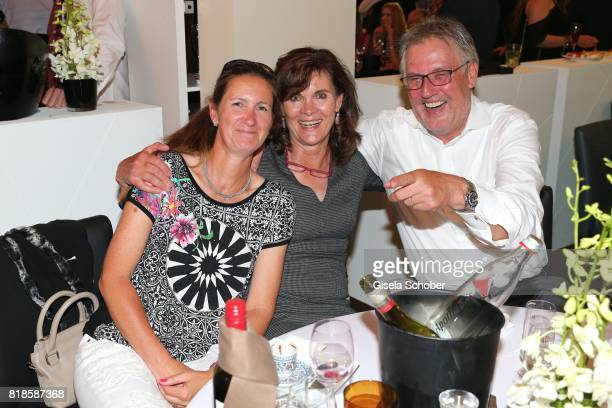 Horsewoman rider Nicole UphoffSelke and Ulrike NasseMeyfahrt and her husband Roland Nasse during the media night of the CHIO 2017 on July 18 2017 in...