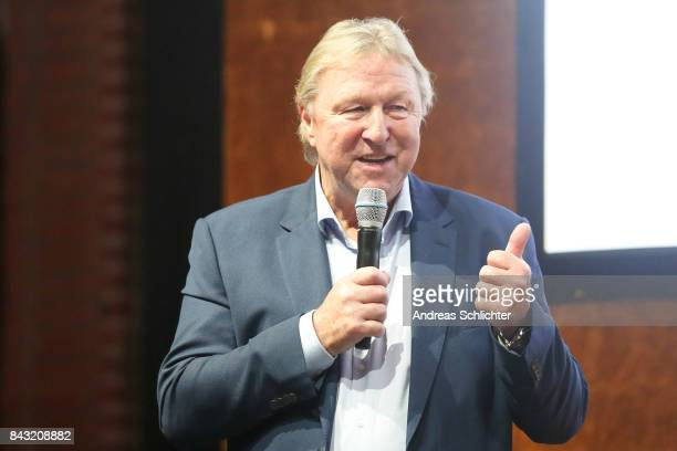 Horst Hrubesch during the FritzWalterMedaille Awarding Ceremony on September 4 2017 in Stuttgart Germany