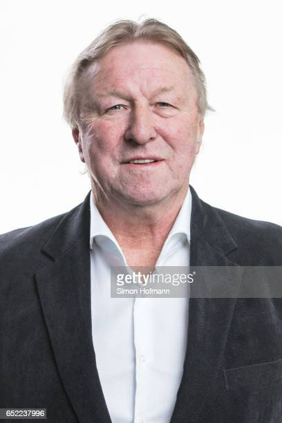 Horst Hrubesch poses for a portrait during a DFB Executive Board Meeting at DFB Headquarter on March 10 2017 in Frankfurt am Main Germany