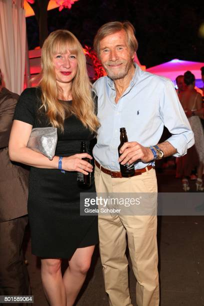 MUNICH GERMANY JUNE 26 Horst Janson and his daughter Sarah Janson during the Movie meets Media Party during the Munich Film Festival on June 26 2017...
