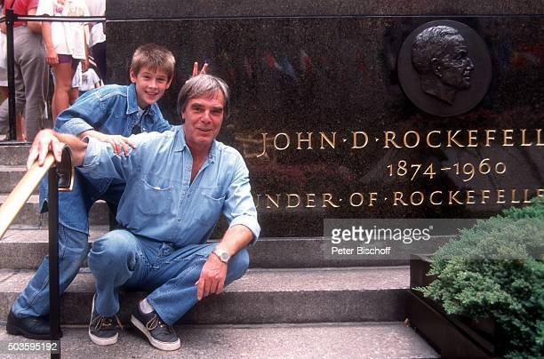 'Horst Jüssen Sohn DonDavid Jüssen FamilienUrlaub am am RockefellerCenter in Manhattan New York USA '
