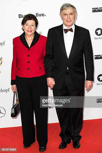 Horst Koehler and his wife Eva Luise arrive at the Bambi Awards 2016 at Stage Theater on November 17 2016 in Berlin Germany