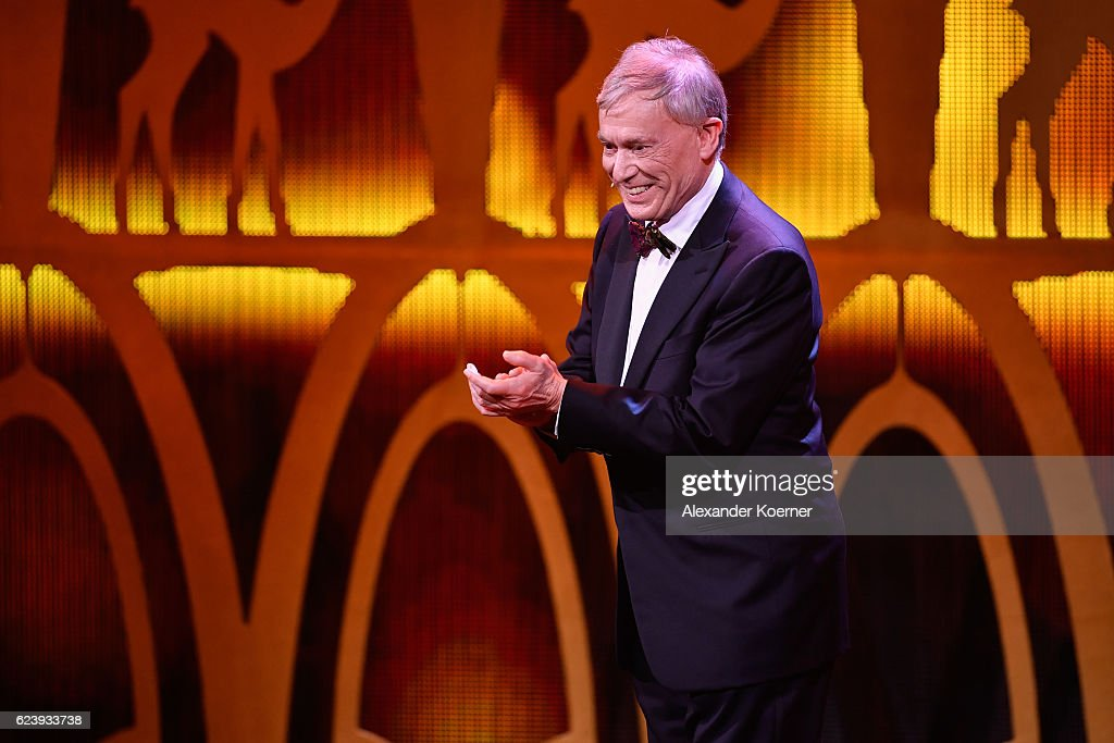 Horst Koehler is seen on stage during the Bambi Awards 2016 show at Stage Theater on November 17, 2016 in Berlin, Germany.