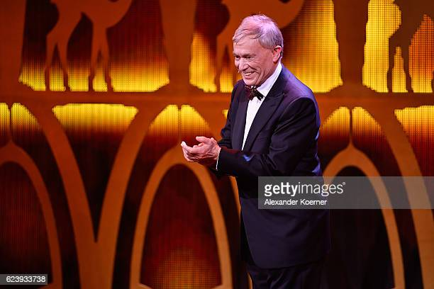 Horst Koehler is seen on stage during the Bambi Awards 2016 show at Stage Theater on November 17 2016 in Berlin Germany