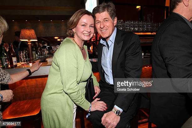 Horst Kummeth and wife Eva attend the NDF After Work Presse Cocktail at Parkcafe on March 19 2014 in Munich Germany