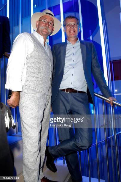 Horst Lichter and Guenther Jauch attend the 'Bertelsmann Summer Party' at Bertelsmann Repraesentanz on June 22 2017 in Berlin Germany