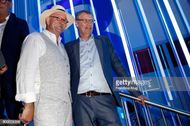 Horst Lichter and Guenther Jauch attend the 'Bertelsmann Summer Party' at Bertelsmann Repraesentanz on June 22 2017 in Berlin Germany