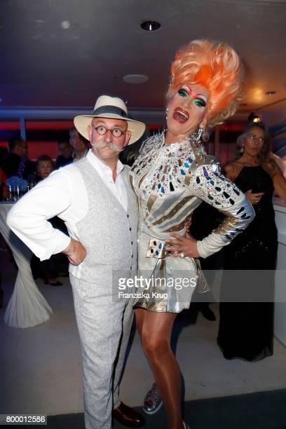 Horst Lichter and Olivia Jones attend the 'Bertelsmann Summer Party' at Bertelsmann Repraesentanz on June 22 2017 in Berlin Germany