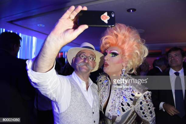 Horst Lichter and Olivia Jones attend the Bertelsmann Summer Party on June 22 2017 in Berlin Germany