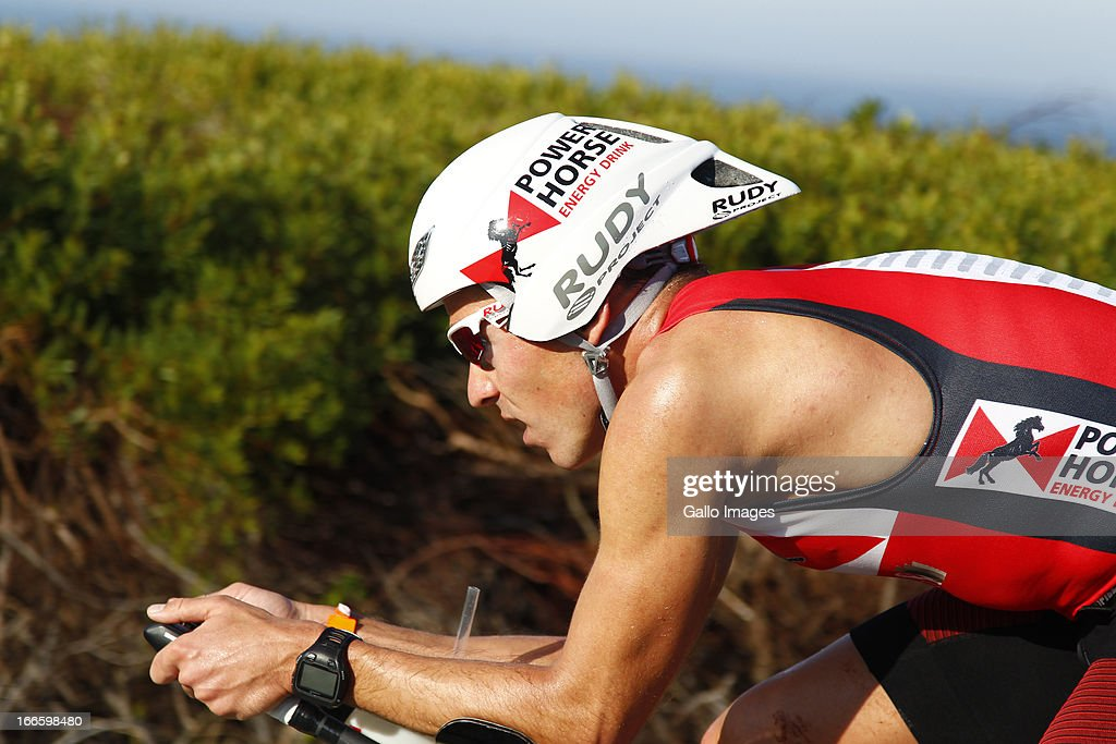 Horst Reichel of Germany during the Spec-Savers Ironman South Africa from Hobie Beach on April 14, 2013 in Port Elizabeth, South Africa.