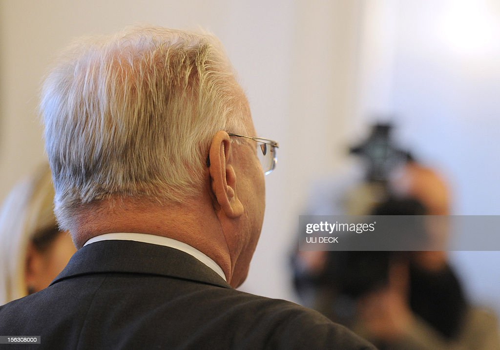 Horst S, medical doctor and defendant in a lawsuit against French company Poly Implant Prothèse (PIP) awaits the beginning of the trial at the Regional Court in Karlsruhe, western Germany, on November 13, 2012. A 40 year old woman and former patient filed a lawsuit against PIP for using cheap silicone in breast implants that subsequently caused health problems. The surgeon, Horst S. has to stand trial since the French company went bankrupt.