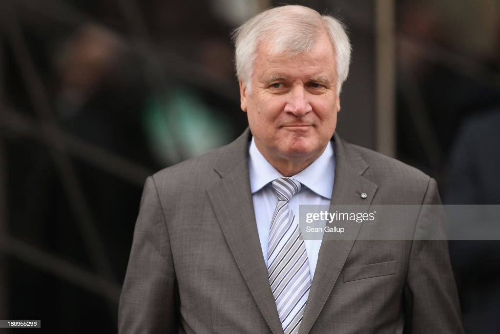<a gi-track='captionPersonalityLinkClicked' href=/galleries/search?phrase=Horst+Seehofer&family=editorial&specificpeople=4273631 ng-click='$event.stopPropagation()'>Horst Seehofer</a>, Chairman of the Bavarian Christian Democrats (CSU), waits for the arrival of the heads of the German Social Democrats (SPD) and German Christian Democrats (CDU) at the Bavarian state representation for coalition negotiations on November 5, 2013 in Berlin, Germany. The SPD, CSU and CDU are hashing through policy issues in an effort to create a new German colaition government following elections in September.