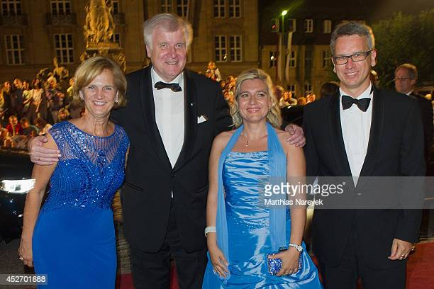 Horst Seehofer Karin Seehofer and guests attend the Bayreuth Festival Opening State Banquet on July 25 2014 in Bayreuth Germany