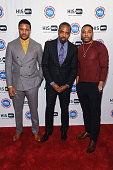 Hosea Chanchez BET Networks President of Broadcast Media Sales Louis Carr and Nelly attend the HIS Official Launch Party at the Park Hyatt New York...