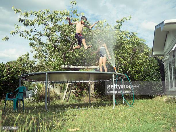 Hosepipe and trampoline