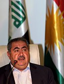 Hoshyar Zebari Iraqi foreign minister until he started boycotting cabinet meetings a few weeks ago speaks during a press conference in Arbil the...