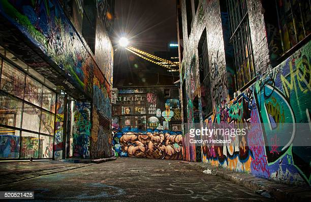 Hosier Lane Graffiti at Night