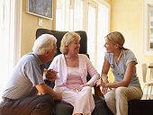Hospice Nurse Talking to Couple