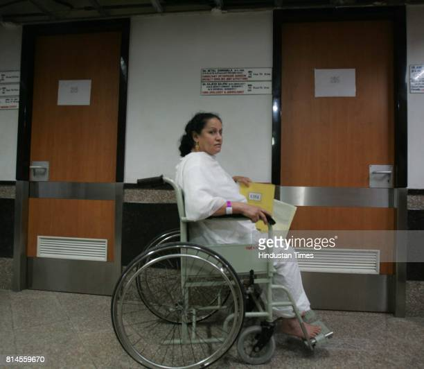Hospital Disc Replacement Haleema Rashid a patient of Slip Disc from Iraq been oprated at Bombay Hospital in Mumbai on Wednesday