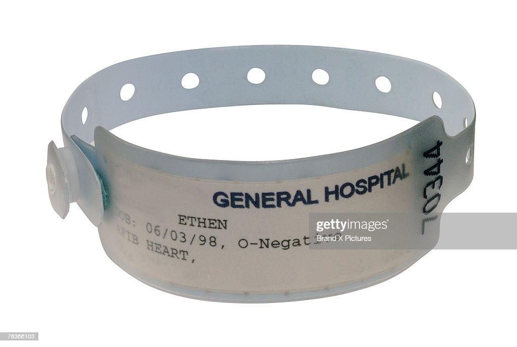 Hospital identification bracelet